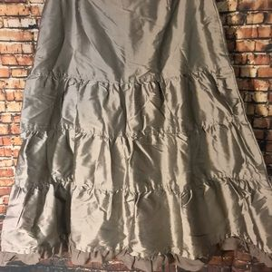 Carole Little Skirts - Boho Embroidered tiered full skirt Sz 10 NWT